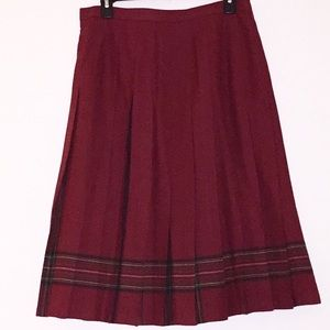 L.L. Bean vintage pleated skirt EUC